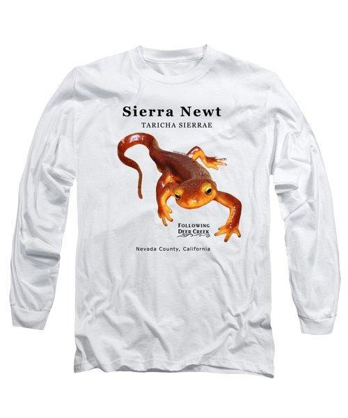 Sierra Newt - Black Text Long Sleeve T-Shirt