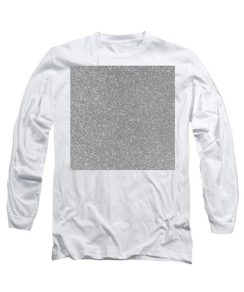 Silver Glitter  Long Sleeve T-Shirt