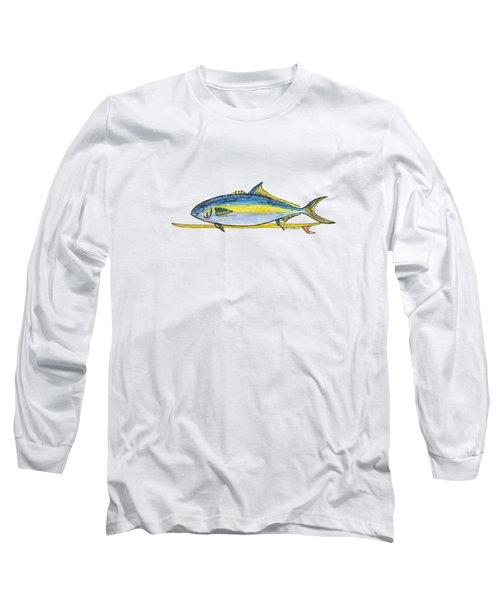 Single Fin Yellowtail Long Sleeve T-Shirt