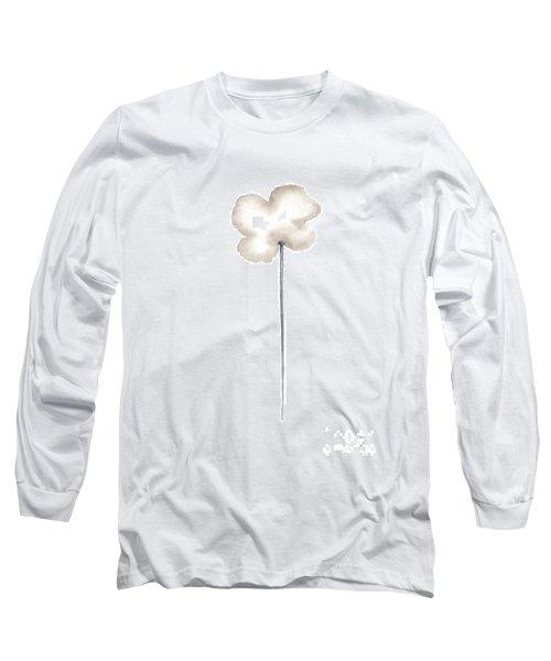 Single Straight Sepia Cloud Poppy  Long Sleeve T-Shirt