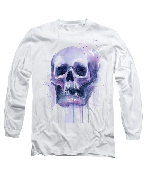 Skull In Space Long Sleeve T-Shirt