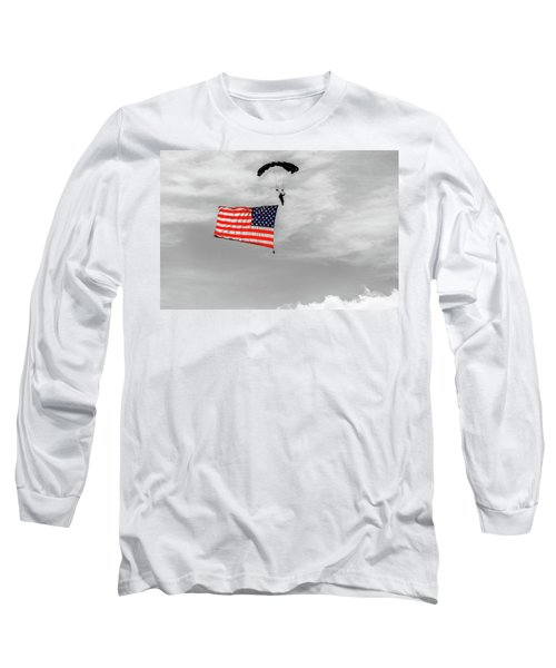 Socom Flag Jump In Selective Color Long Sleeve T-Shirt