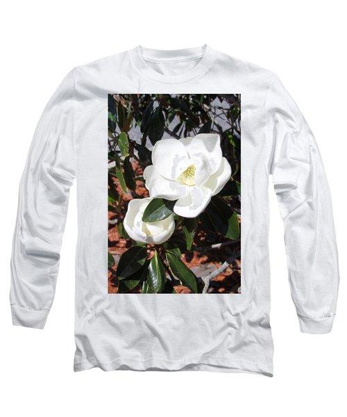 Sosouthern Magnolia Blossoms Long Sleeve T-Shirt