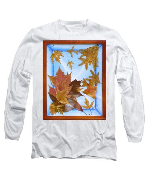 Splattered Leaves Long Sleeve T-Shirt