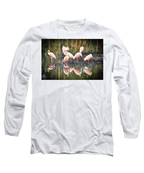 Spoonbill Reflection Long Sleeve T-Shirt