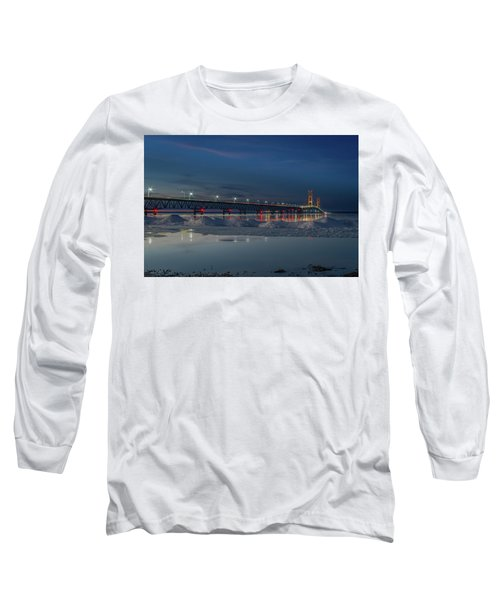 Spring Evening At The Mackinac Bridge Long Sleeve T-Shirt