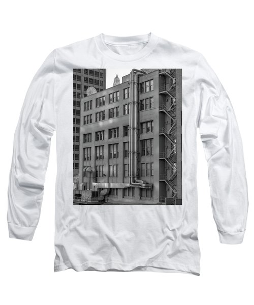 Squares And Lines Long Sleeve T-Shirt