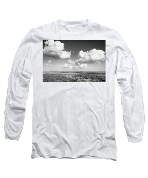 Sri Lankan Clouds In Black Long Sleeve T-Shirt