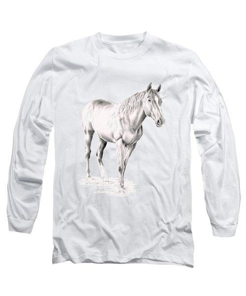 Standing Racehorse Long Sleeve T-Shirt