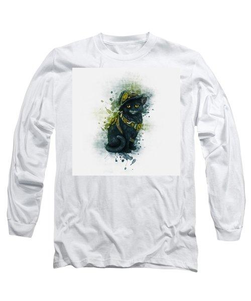Steampunk Kitty Long Sleeve T-Shirt