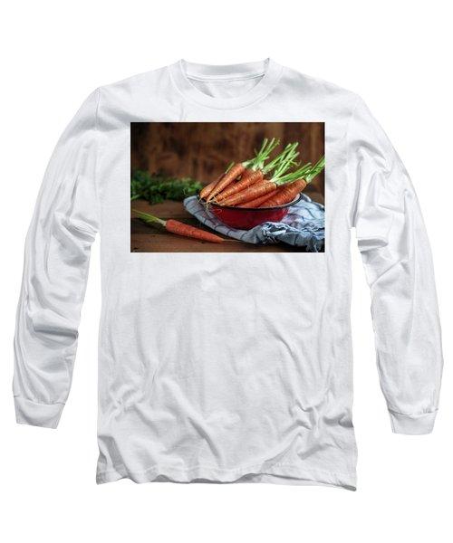 Still Life With Fresh Carrots Long Sleeve T-Shirt