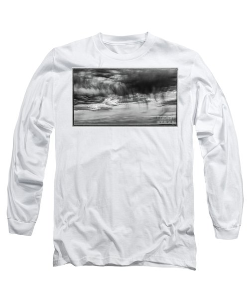 Stormy Sky In Black And White Long Sleeve T-Shirt
