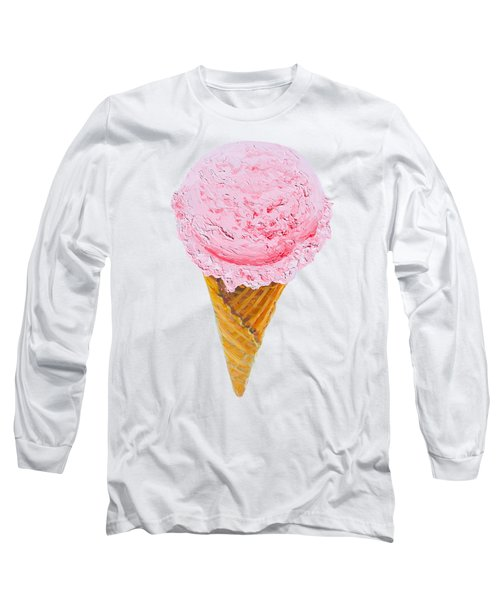Strawberry Ice Cream Cone Long Sleeve T-Shirt