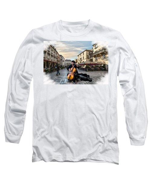 Street Music. Cello. Long Sleeve T-Shirt