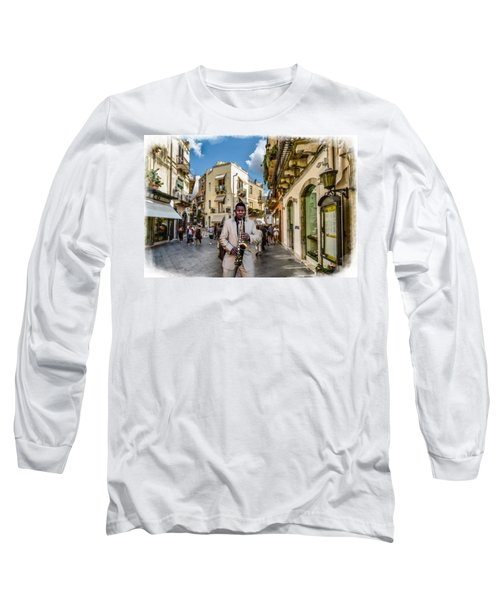 Street Music. Saxophone. Long Sleeve T-Shirt