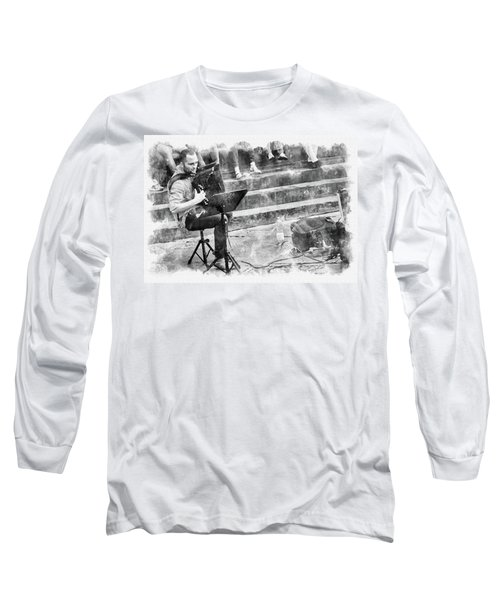 Street Musician In Florence Long Sleeve T-Shirt