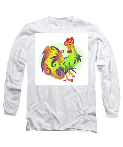 Stylized Rooster I Long Sleeve T-Shirt