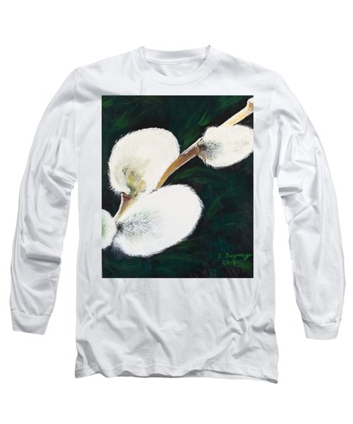 Sunlit Pussy Willow Long Sleeve T-Shirt