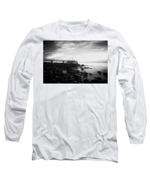 Sunrise In Black And White Long Sleeve T-Shirt