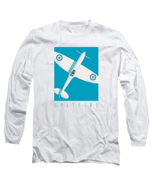 Supermarine Spitfire Wwii Raf Fighter Aircraft Long Sleeve T-Shirt