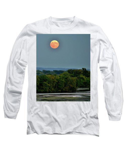 Supermoon On The Mississippi Long Sleeve T-Shirt