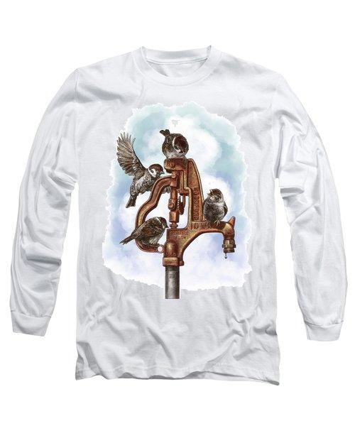 Talk Around The Watercooler Long Sleeve T-Shirt