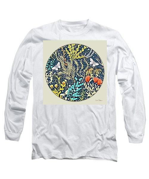 Tapestry Design Button Long Sleeve T-Shirt