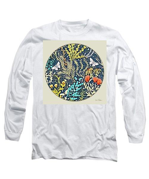 Tapestry Design Button Long Sleeve T-Shirt