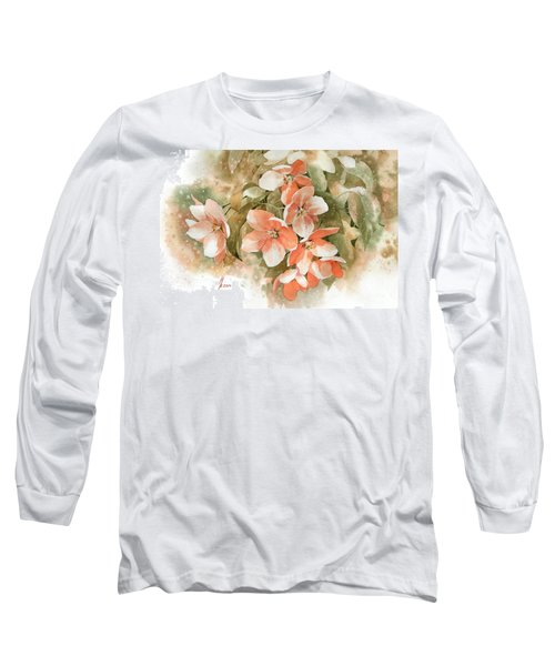 Tender Blossom Of Apple Tree Long Sleeve T-Shirt