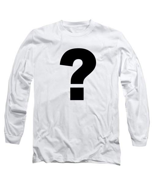 Text Question Mark ? In Black -  Dth301 Long Sleeve T-Shirt