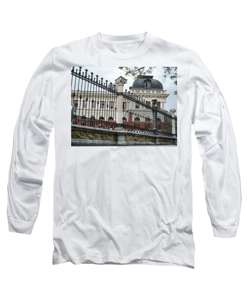 The Back Of The Ministry Of Agriculture Building In Madrid Long Sleeve T-Shirt