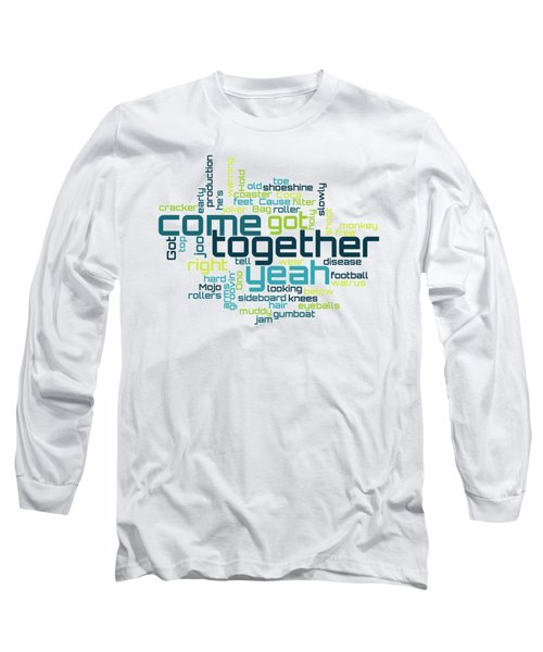 The Beatles - Come Together Lyrical Cloud Long Sleeve T-Shirt