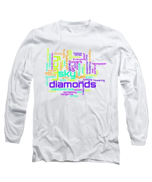 The Beatles - Lucy In The Sky With Diamonds Lyrical Cloud Long Sleeve T-Shirt