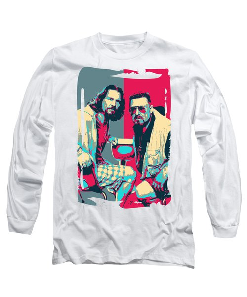 The Big Lebowski Revisited - The Dude And Walter No.2 Long Sleeve T-Shirt