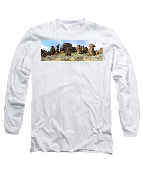 Arches Hoodoos And Castles The Big Picture Little City Of Rocks Long Sleeve T-Shirt