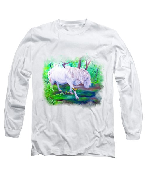 The Butterfly And The Pony Long Sleeve T-Shirt