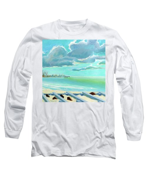 The Gulf, The Clouds, The Pier Long Sleeve T-Shirt