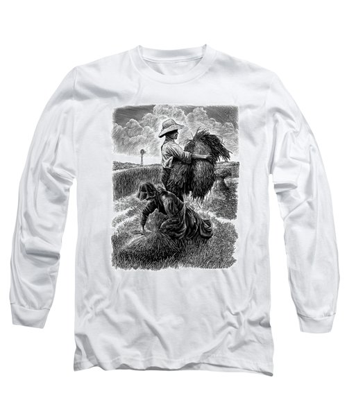 The Harvesters - Bw Long Sleeve T-Shirt