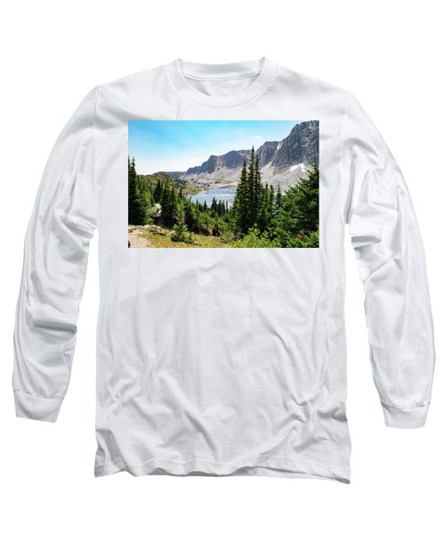 The Lakes Of Medicine Bow Peak Long Sleeve T-Shirt