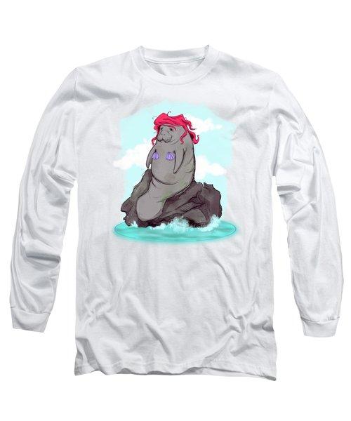 The Little Manatee  Long Sleeve T-Shirt