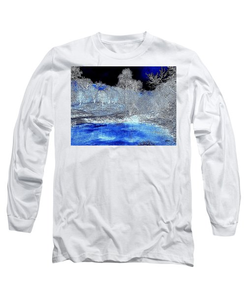The  Pond In  Winter  -  Edit20-contest Long Sleeve T-Shirt