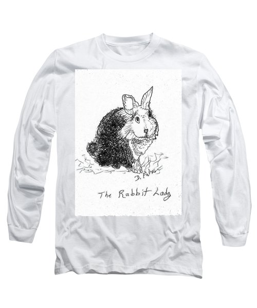 The Rabbit Lady Drawing Long Sleeve T-Shirt