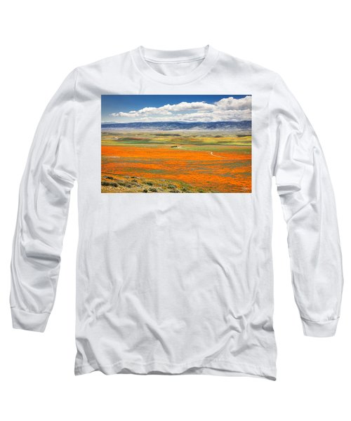 The Road Through The Poppies 2 Long Sleeve T-Shirt