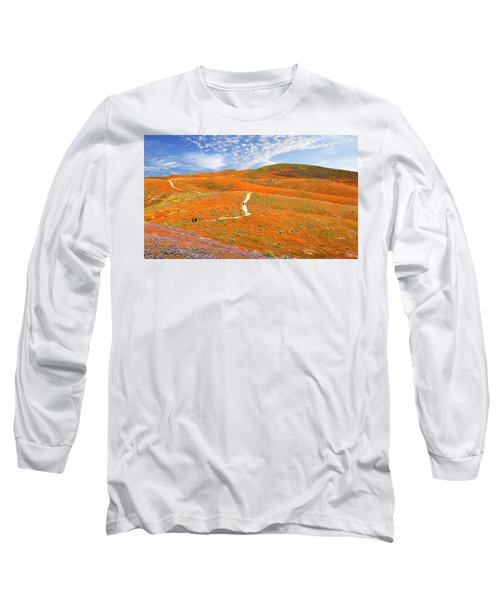 The Trail Through The Poppies Long Sleeve T-Shirt