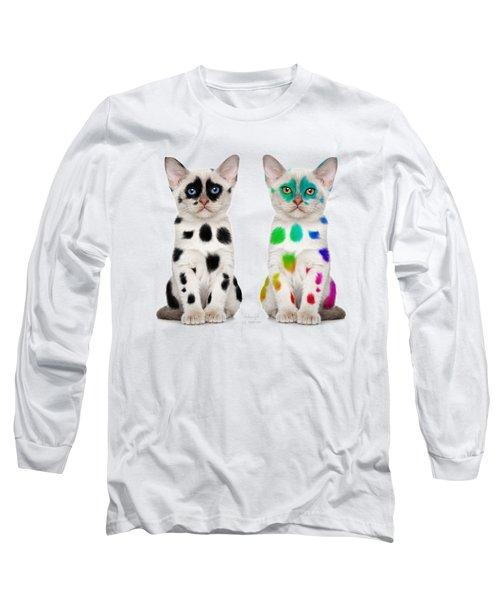 The Twins Dalmatian Cats Long Sleeve T-Shirt