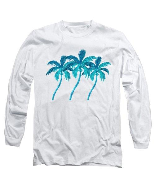 Three Coconut Palm Trees Long Sleeve T-Shirt