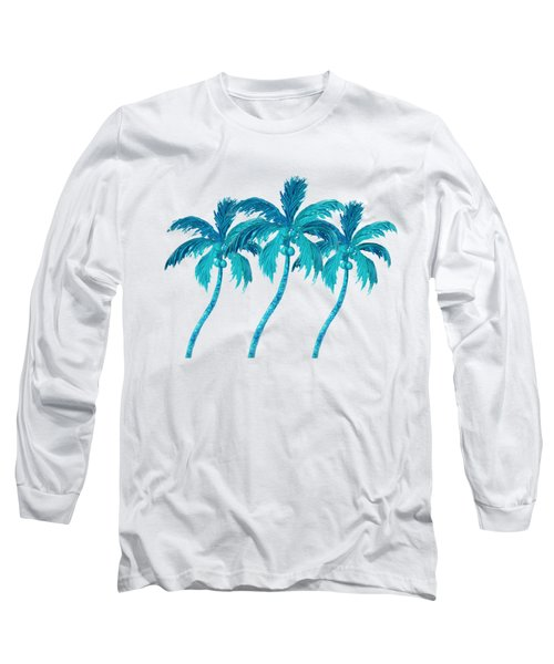 Three Coconut Palm Trees Long Sleeve T-Shirt