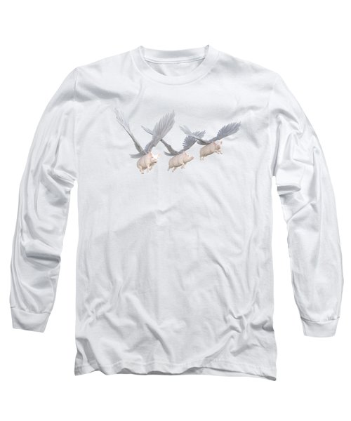 Three Little Pigs Transparent Long Sleeve T-Shirt