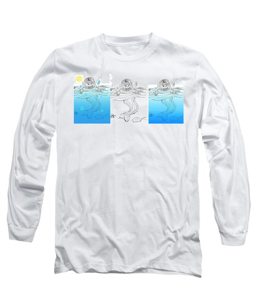 Three Mermaids All In A Row Long Sleeve T-Shirt