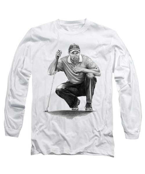 Tiger Woods Crouching Tiger Long Sleeve T-Shirt
